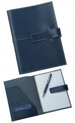 Blue Leather Pad Cover, Conference Items